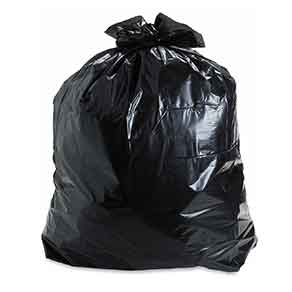 Large plastic trash bag (for wet items on last day)
